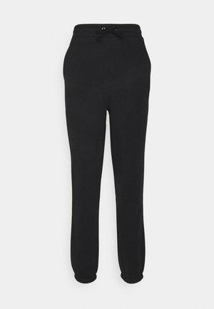 HIGH WAIST LOOSE FIT SWEAT PANTS - Pantalon de survêtement - black