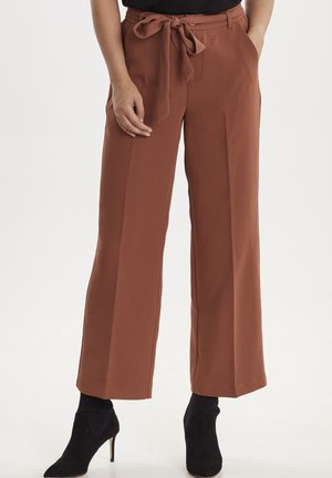 VIKITTA - Trousers - mahogany