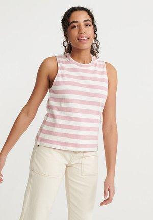SUPERDRY SUMMER STRIPE VEST - Top - soft pink