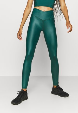 SHINE WAIST LEGGING - Medias - deep green