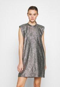 Monki - ALVINA BLING DRESS - Robe de soirée - silver / black - 0