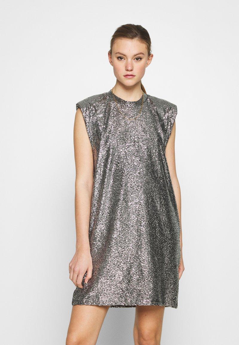 Monki - ALVINA BLING DRESS - Robe de soirée - silver / black