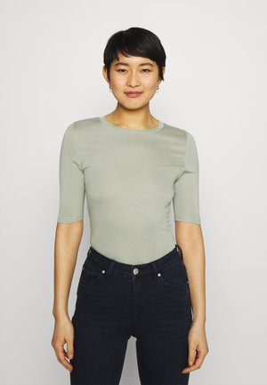 HIGH NECK TOP - Jednoduché triko - green