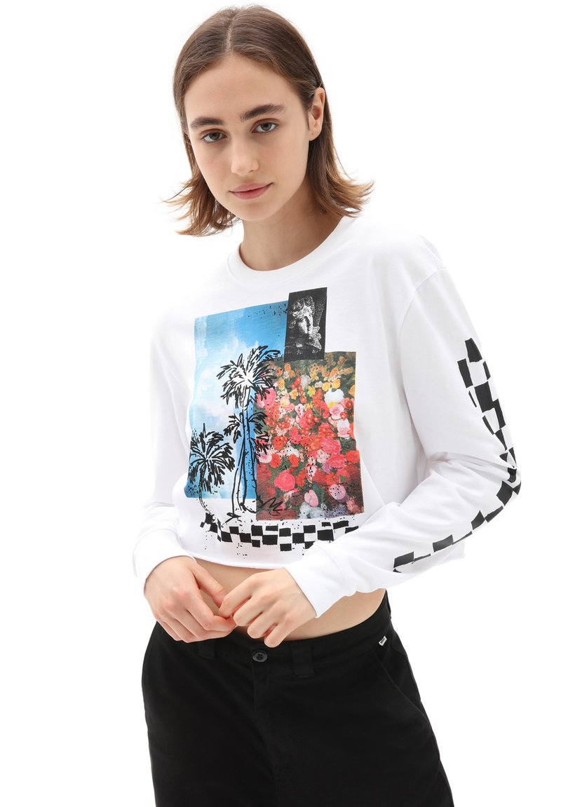 Vans - WM SEARCH PARTY - Long sleeved top - white