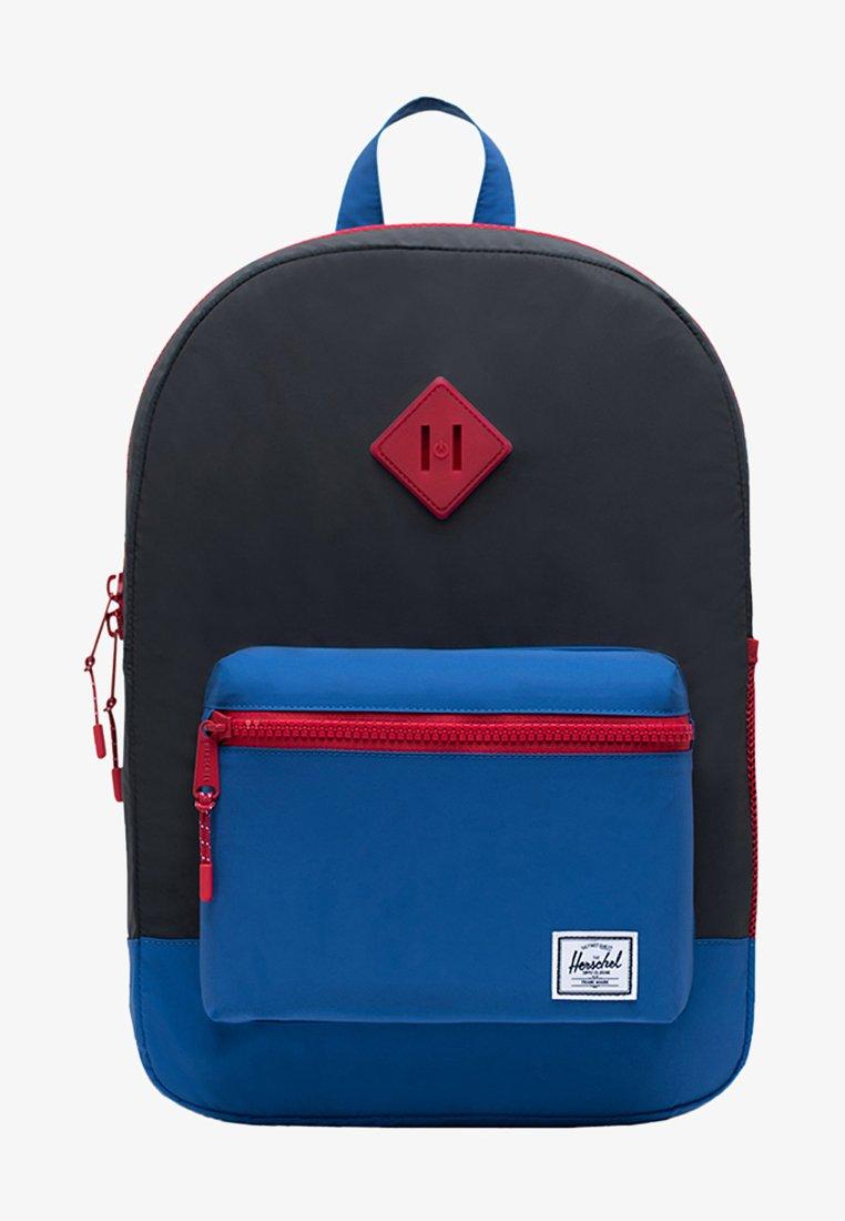 Herschel - School bag - black reflective/lapis blue reflective/red light