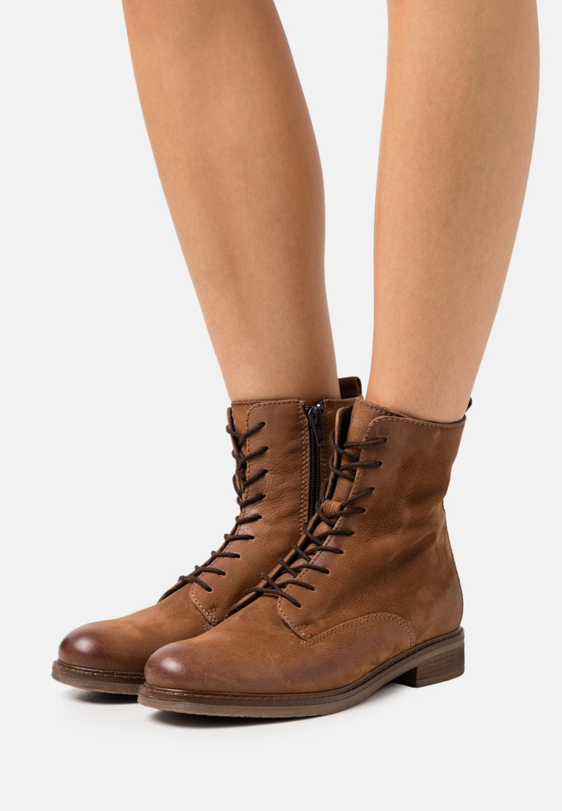 Anna Field - LEATHER - Lace-up ankle boots - cognac