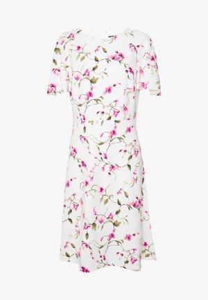 TECH CREPE DRESS - Day dress - cream/pink