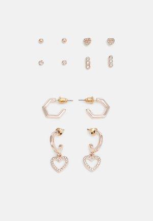 6 PACK - Earrings - rose gold-coloured