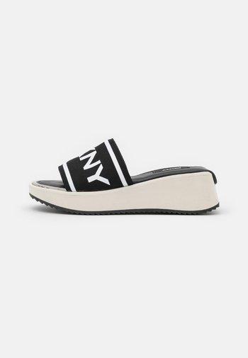 MANDY SPORT - Mules - black/white