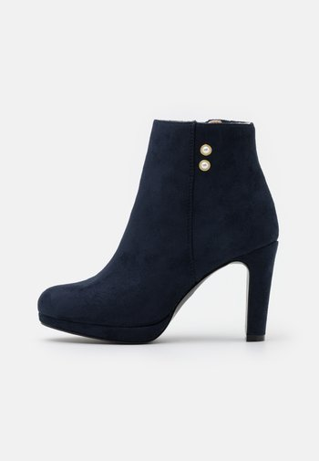Platform ankle boots - dark blue