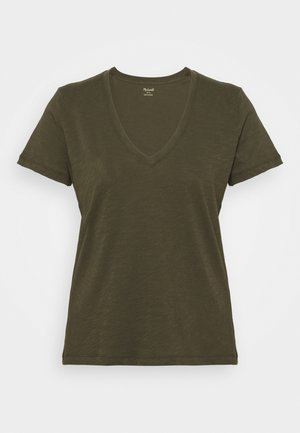 WHISPER V NECK TEE - T-shirt basic - foliage green
