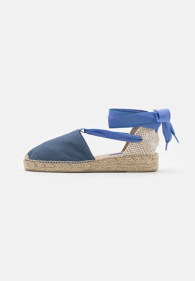 DOUBLE LACES - Espadryle - denim