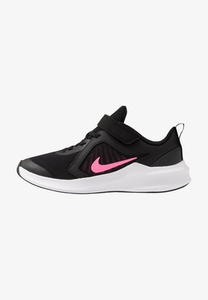 DOWNSHIFTER 10 UNISEX - Laufschuh Neutral - black/pink glow/anthracite/white
