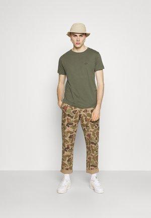 2 PACK - T-paita - military green/smoke grey