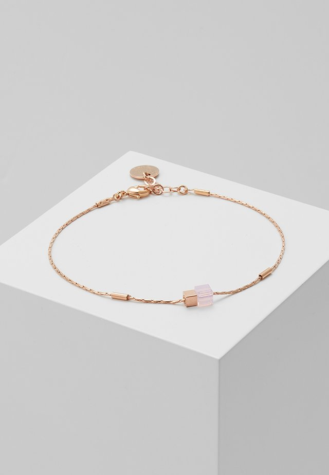 BRACLET CUBES - Armband - rosegold-coloured