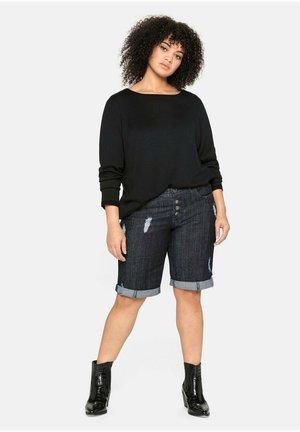 Denim shorts - blue black denim