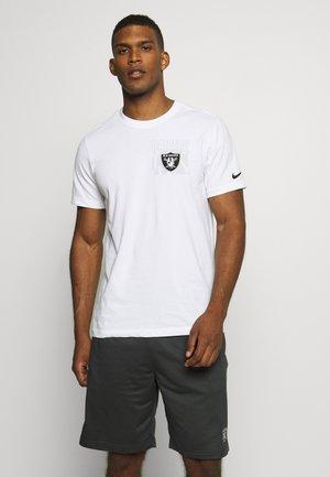 NFL OAKLAND RAIDERS DRI FIT FACILITY - Club wear - white