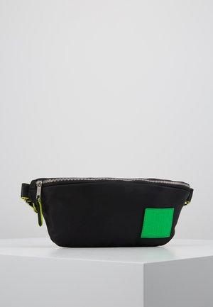LABEL FIVE - Bum bag - black/green
