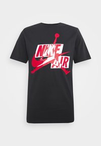 Jordan - CLASSICS CREW - T-shirt con stampa - black/gym red/white - 3