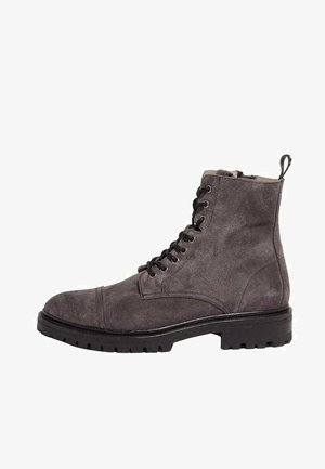 PIERO - Lace-up ankle boots - charcoal grey
