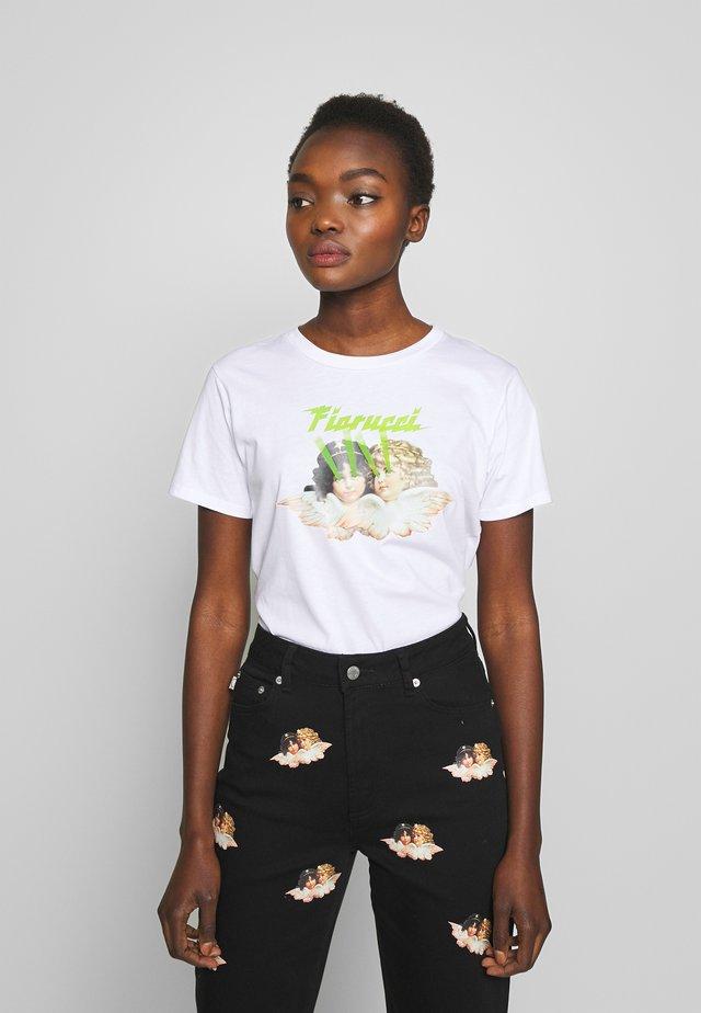 ANGELS LASER - T-shirt imprimé - white