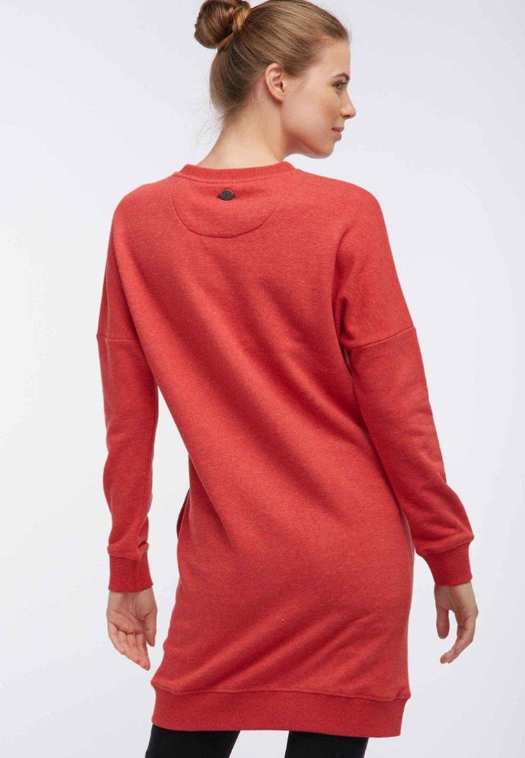 DreiMaster Freizeitkleid mottled dark red/dunkelrotmeliert