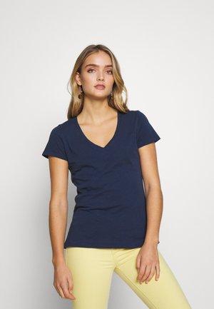 ARDEN V NECK TEE - Basic T-shirt - navy