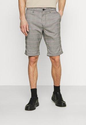 CHECK - Shorts - offwhite/black/tobacco