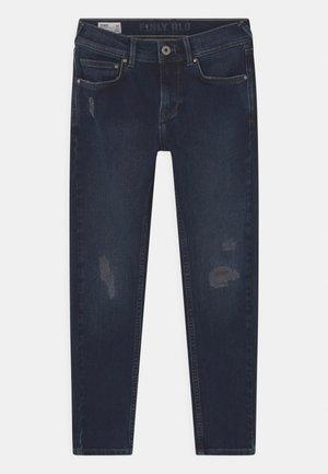 FINLY - Slim fit jeans - blue black destroy