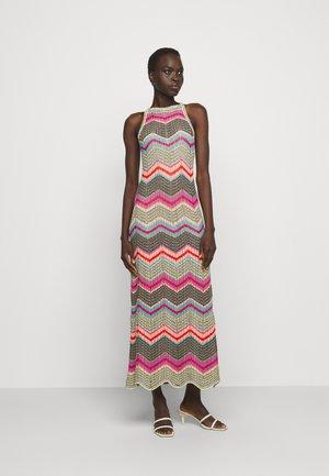ABITO LUNGO SENZA MANICHE - Gebreide jurk - multi coloured