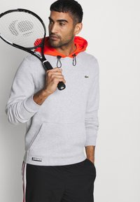 Lacoste Sport - COLOURED HOOD - Sweatshirt - silver chine/gladiolus - 3