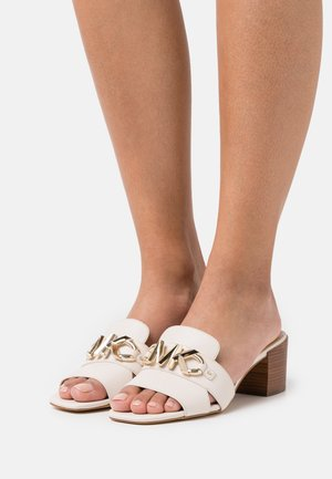 IZZY MULE - Heeled mules - light cream
