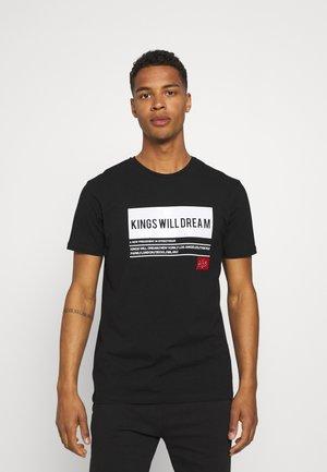 TAYPORT TEE - Print T-shirt - black