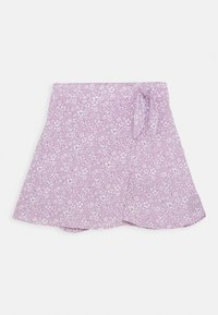 Abercrombie & Fitch - CHASE WRAP FRONT SKIRT - A-line skirt - lavender - 0