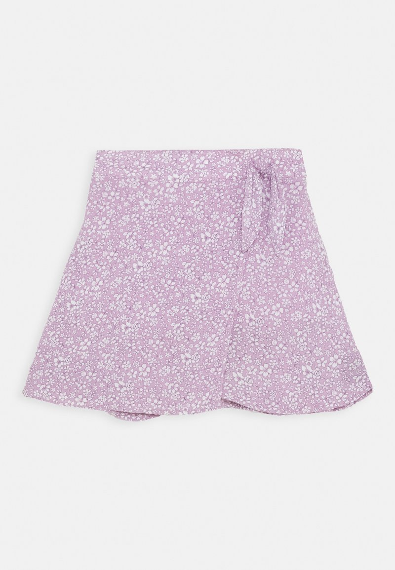 Abercrombie & Fitch - CHASE WRAP FRONT SKIRT - A-line skirt - lavender