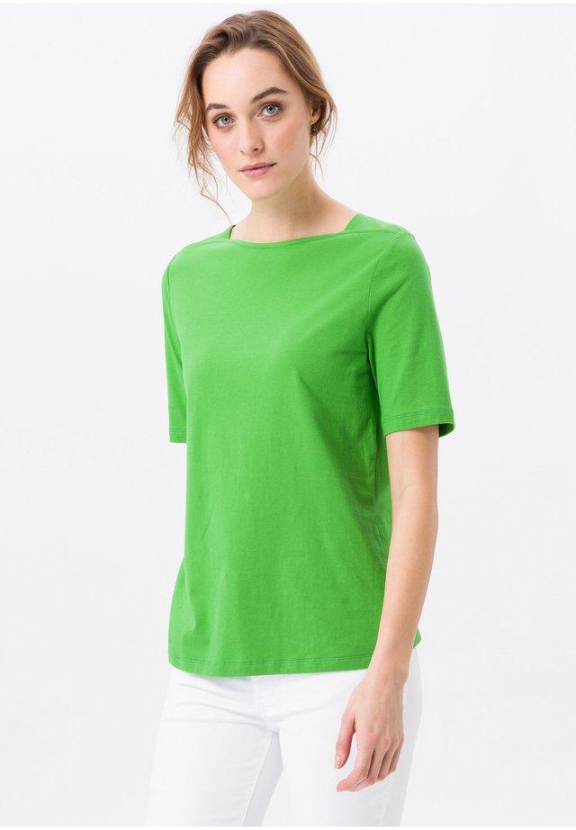 MIT U-BOOT-AUSSCHNITT - T-Shirt basic - grün