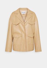 PATCH POCKET JACKET - Faux leather jacket - beige