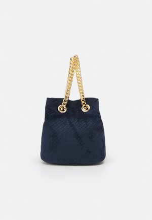 SOFT WOVEN SHOULDER - Handbag - navy