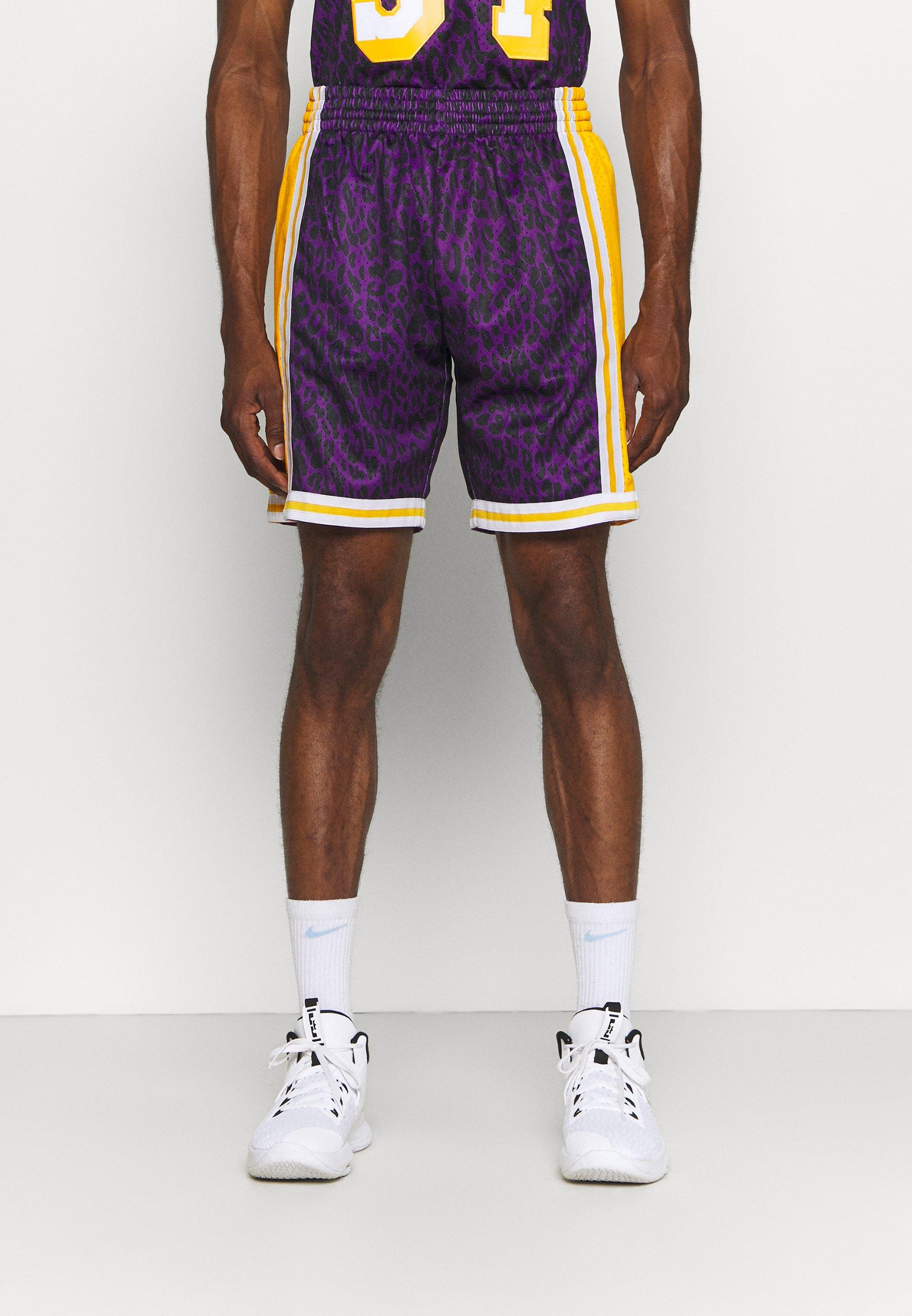 Men NBA LOS ANGELES LAKERS WILD LIFE SWINGMAN SHORT - Club wear