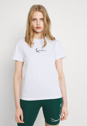 SMALL SIGNATURE TEE - T-shirt con stampa - white