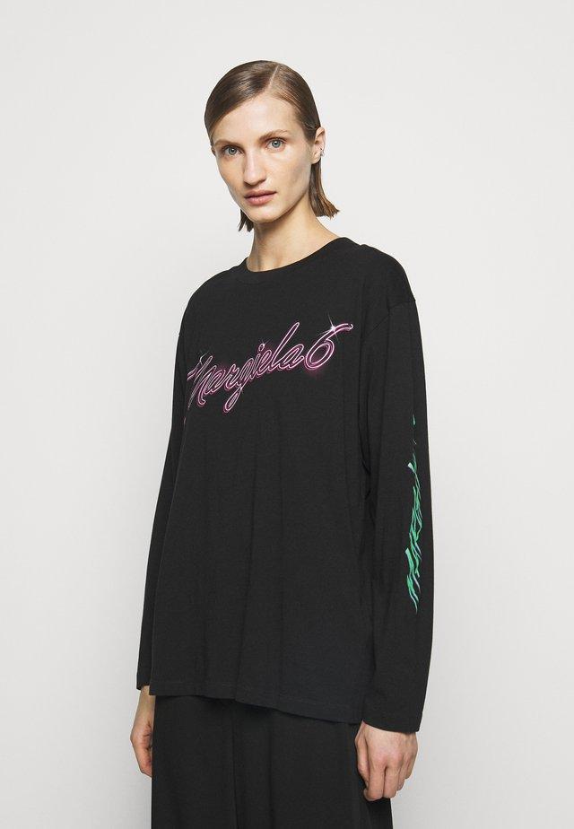 PRINTED - Long sleeved top - black