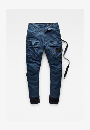 RELAXED TAPERED CARGO - Cargo trousers - antique worker denim o - 3d raw denim