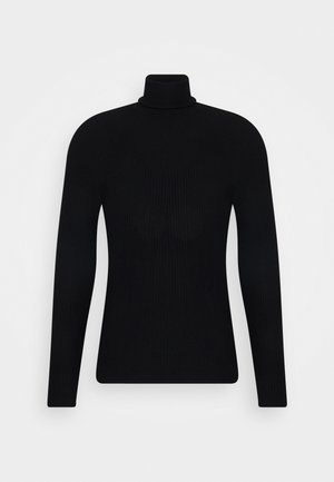 TURLTE COLLAR - Jumper - black