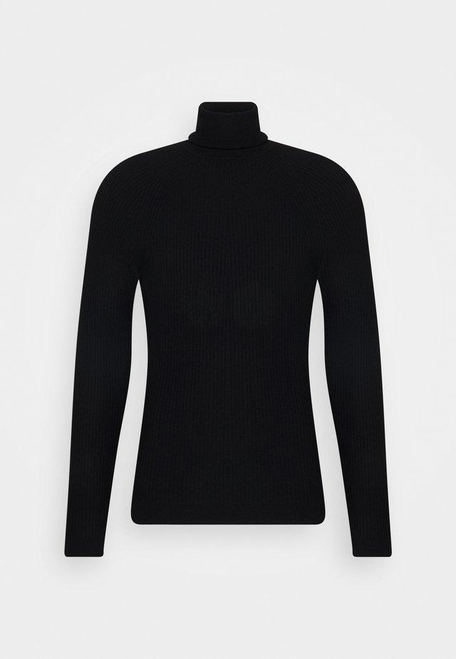 TURLTE COLLAR - Strickpullover - black