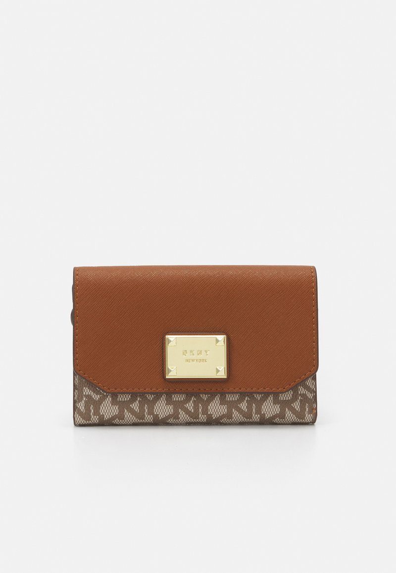 DKNY - HOLIDAY ITEMS HANGING MINI POUCH WITH MICRO STUDS - Wallet - chino/caramel