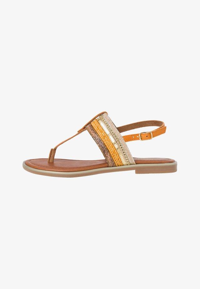 Sandaler m/ tåsplit - burn. orange c