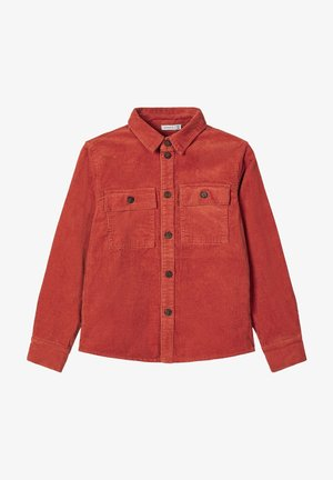 NKMBATAMIS CORD  - Shirt - burnt brick