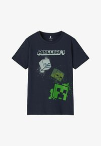 Name it - MINECRAFT - T-shirt print - dark sapphire - 0