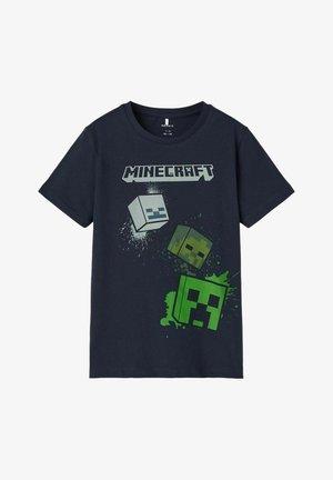 MINECRAFT - T-shirt imprimé - dark sapphire
