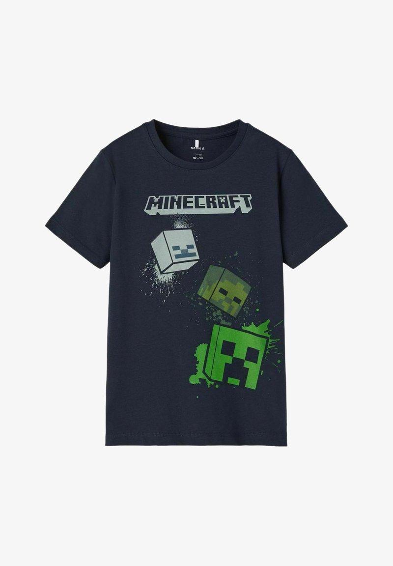 Name it - MINECRAFT - T-shirt print - dark sapphire